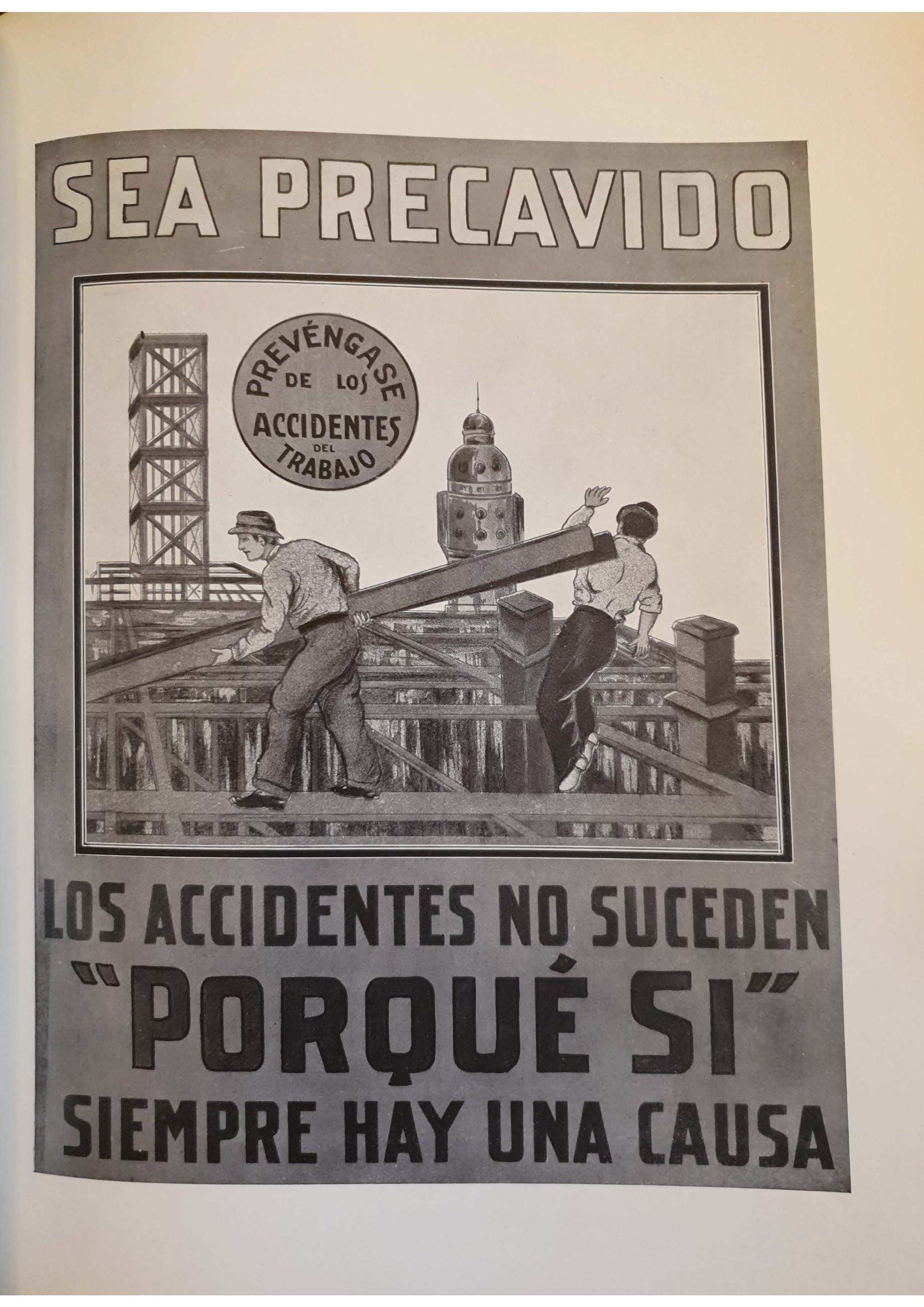 Call for the prevention of work-related accidents in Argentina (1930s)
