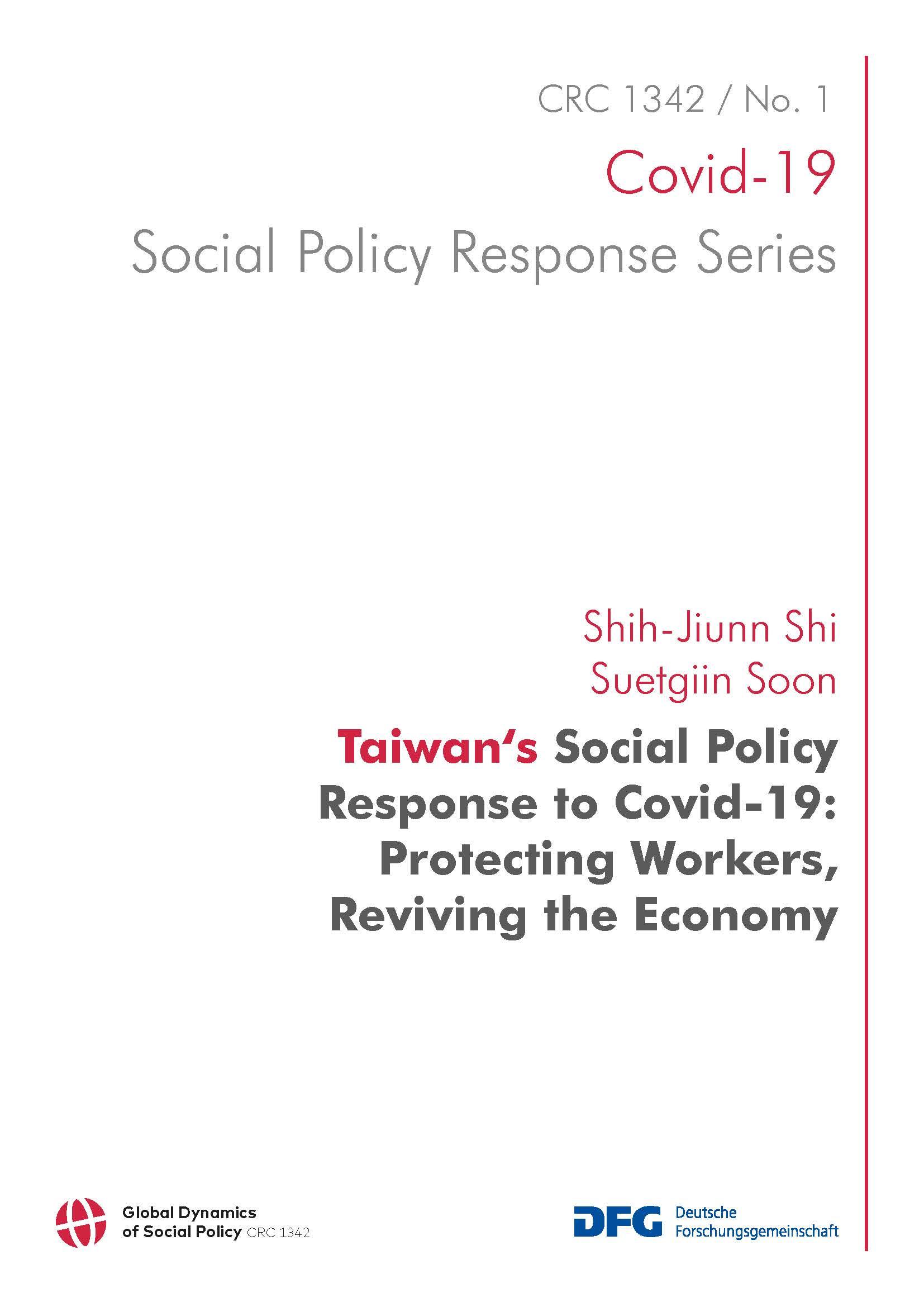 CRC 1342 Covid-19 Social Policy Response Series, Band 1