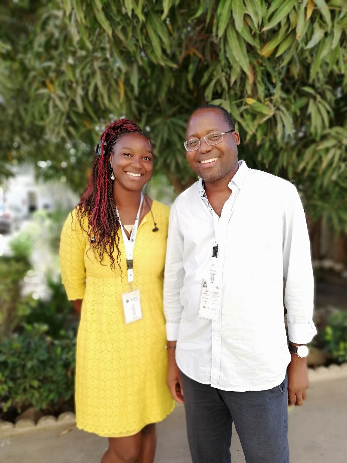 Alex Nadège Ouedraogo with Prof. Dr. Elísio Macamo (Summer School Director), Professor of African Studies at the University of Basel (Switzerland)Summer School 1.jpg (295 KB)